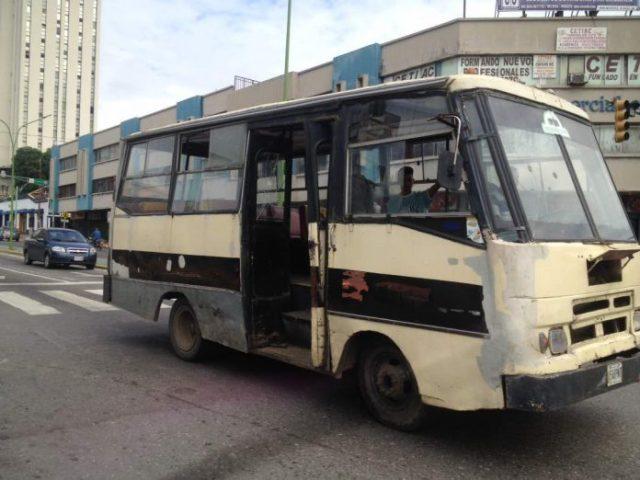 Foto: Transporte público sin pasajeros en Carabobo / El Impulso