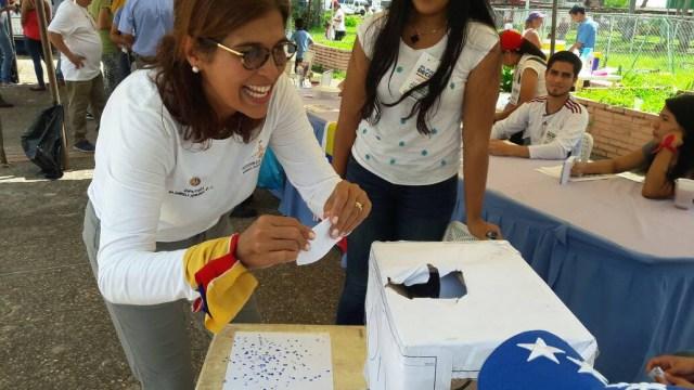 La diputada la Asamblea Nacional (AN) por el estado Monagas, María Gabriela Hernández