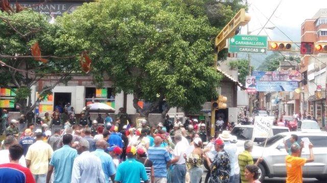 Foto: Varga durante el paro cívico nacional / Cortesía