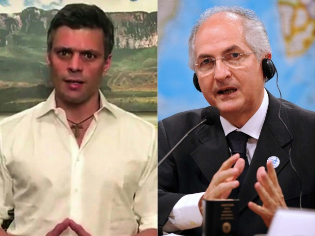 Leopoldo López y Antonio Ledezma. AFP PHOTO / Leopoldo LOPEZ AND EVARISTO SA