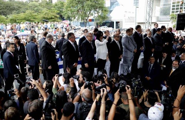 Juramentación de los nuevos magistrados del TSJ, designados por la Asamblea Nacional. REUTERS/Ueslei Marcelino