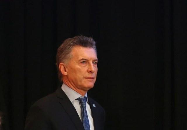 Imagen de archivo del presidente argentino Mauricio Macri durante una cumbre del Mercosur en Mendoza, Argentina. 21 de julio de 2017. REUTERS/Marcos Brindicci