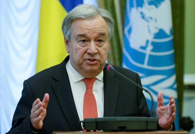 Imagen de archivo del secretario general de la ONU, Antonio Guterres, en una rueda de prensa en Kiev, jul 9, 2017.  REUTERS/Valentyn Ogirenko