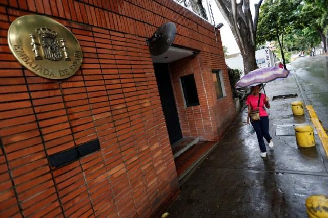 Fachada de la embajada de España en Caracas /REUTERS/Andres Martinez Casares