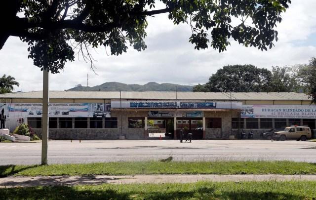 The entrance of the 41 Brigada Blindada Fuerte Paramacay military base is seen in Valencia, Venezuela August 6, 2017. REUTERS/Andres Martinez Casares