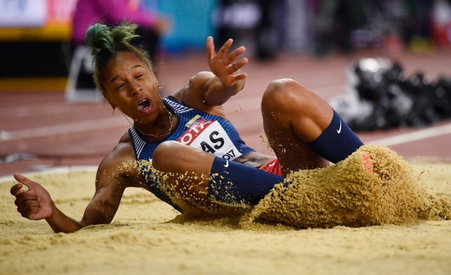 Athletics - World Athletics Championships - Women's Triple Jump Final – London Stadium, London, Britain - August 7, 2017. Yulimar Rojas of Venezuela in action. REUTERS/Dylan Martinez