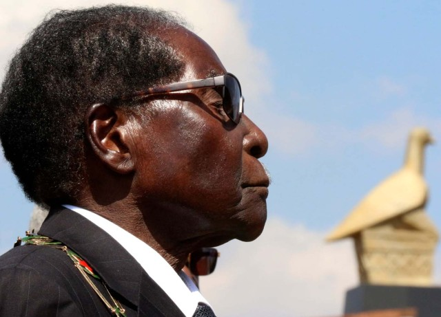 President Robert Mugabe arrives for Heroes Day commemorations in Harare, Zimbabwe, August 14, 2017. REUTERS/Philimon Bulawayo