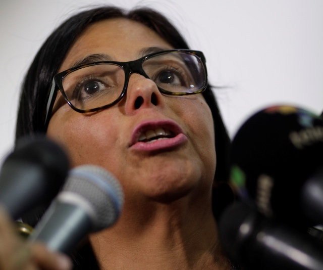 Delcy Eloína Rodríguez REUTERS/Ueslei Marcelino