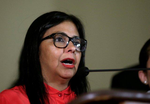 La presidente de ANC, Delcy Rodríguez. REUTERS/Marco Bello