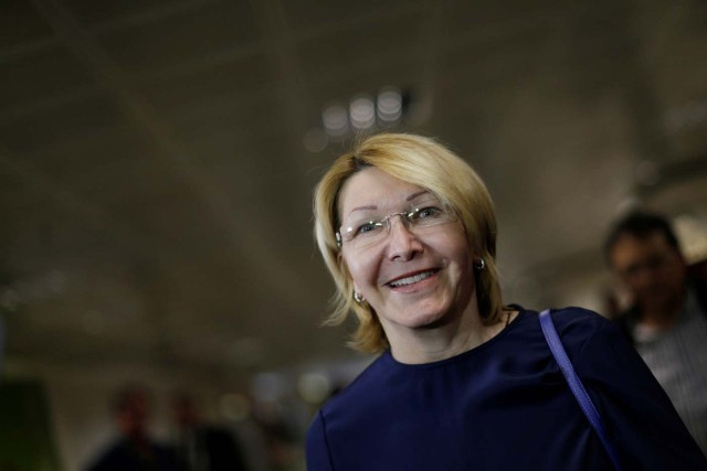 Venezuela's former chief prosecutor Luisa Ortega Diaz, arrives at the Brasilia international airport, in Brasilia, Brazil August 23, 2017. REUTERS/Ueslei Marcelino