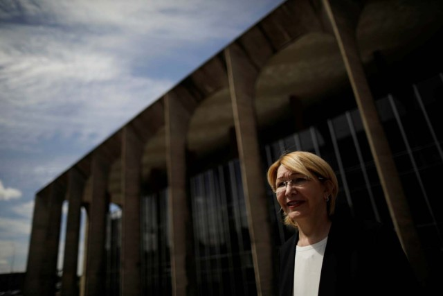 Venezuela's former chief prosecutor Luisa Ortega Diaz is seen after a meeting with Brazil's Foreign Minister Aloysio Nunes Ferreira, in Brasilia, Brazil August 23, 2017. REUTERS/Ueslei Marcelino