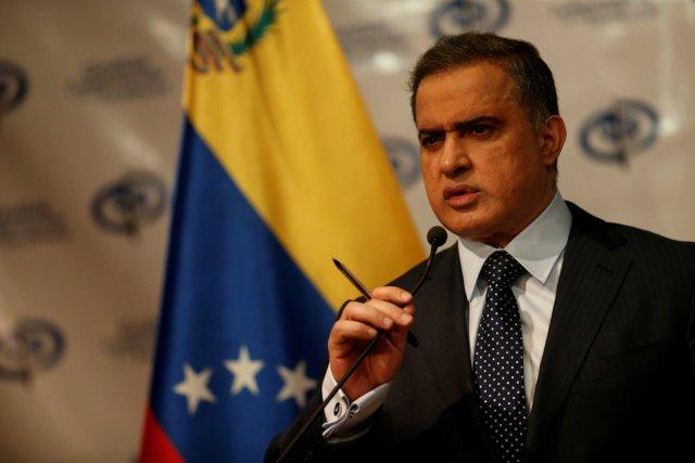 Venezuela's chief prosecutor Tarek William Saab speaks during a news conference in Caracas, Venezuela, August 23, 2017. REUTERS/Andres Martinez Casares