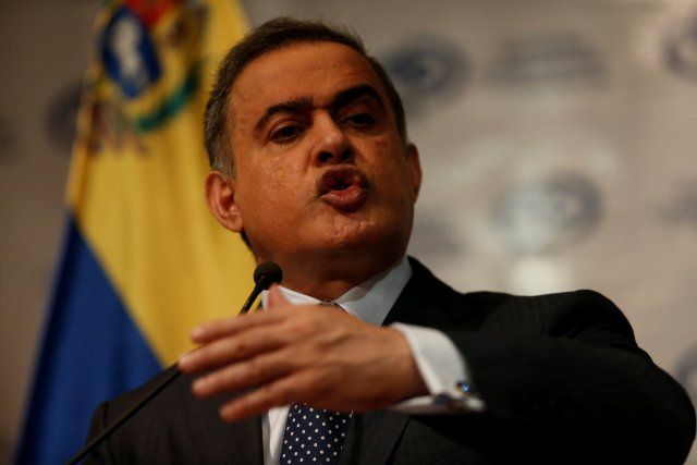 Venezuela's chief prosecutor Tarek William Saab speaks during a news conference in Caracas, Venezuela, August 23, 2017. REUTERS/Andres Martinez Casares