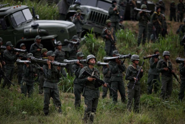 Ejercicios militares en Fuerte Tiuna REUTERS/Marco Bello