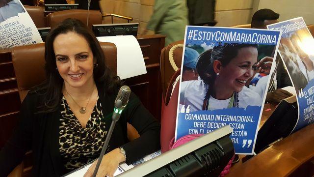 La Congresista colombiana, María Fernanda Cabal