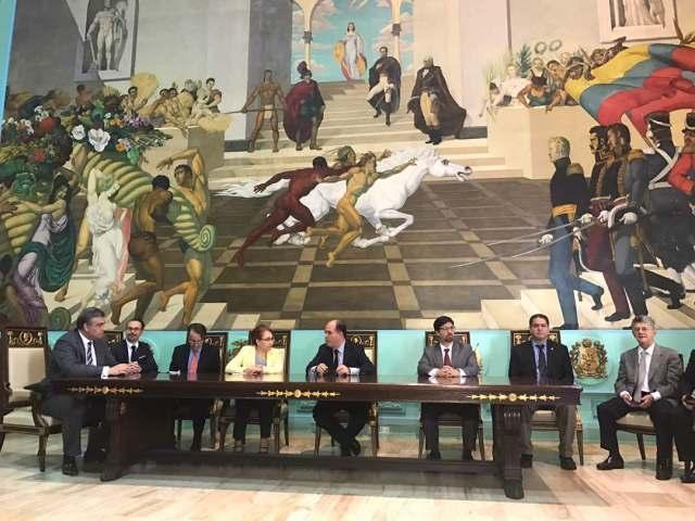 AN se reúne con cuerpo diplomático en el Palacio Federal Legislativo