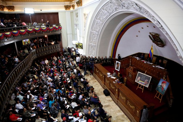 A view of a session of the National Constituent Assembly in Caracas, Venezuela August 8, 2017. REUTERS/Carlos Garcia Rawlins
