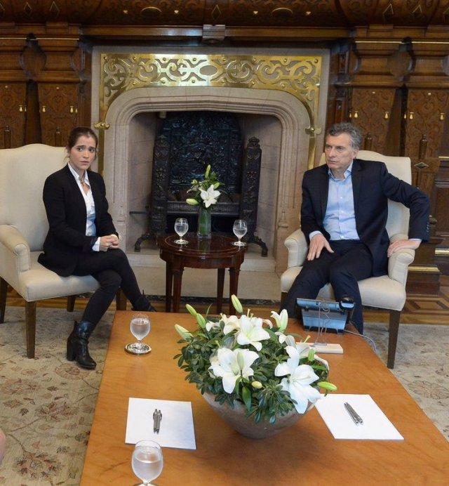 Antonietta Ledezma con Mauricio Macri