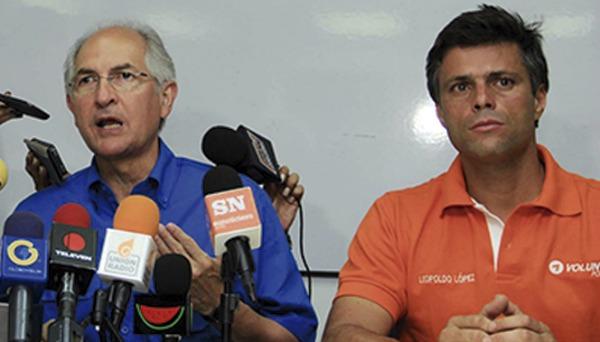 Foto: Antonio Ledezma y Leopoldo Lopez
