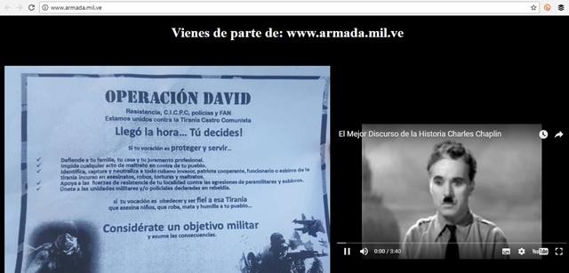 Captura del sitio web www.armada.mil.ve