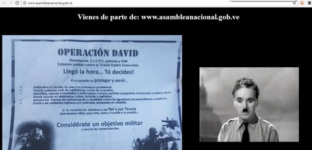 Captura del sitio web www.asambleanacional.gob.ve/