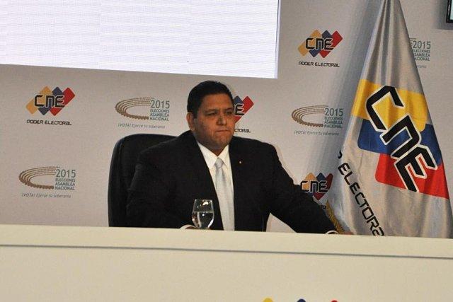 El rector principal del Consejo Nacional Electoral (CNE), Luis Emilio Rondón. Foto: @Unionradionet