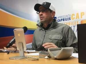 Capriles Radonski: Oposición no debe quedarse de brazos cruzados ante la nueva Constitución