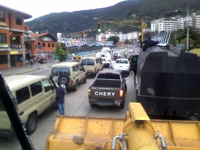Foto: Reportan fuerte despliegue militar y policial en Mérida / Cortesía