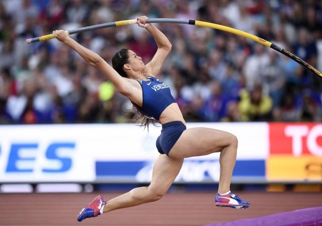 Athletics - World Athletics Championships - Women's Pole Vault Final – London Stadium, London, Britain - August 6, 2017. Robeilys Peinado of Venezuela in action. REUTERS/Dylan Martinez