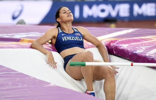 Athletics - World Athletics Championships – women's pole vault final – London Stadium, London, Britain – August 6, 2017 –  Robeilys Peinado of Venezuela. REUTERS/Dylan Martinez