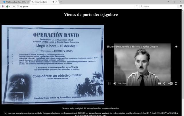 Captura del sitio web tsj.gob.ve