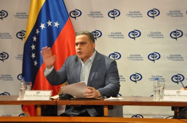 Tarek William Saab desde el Ministerio Público // Foto news report