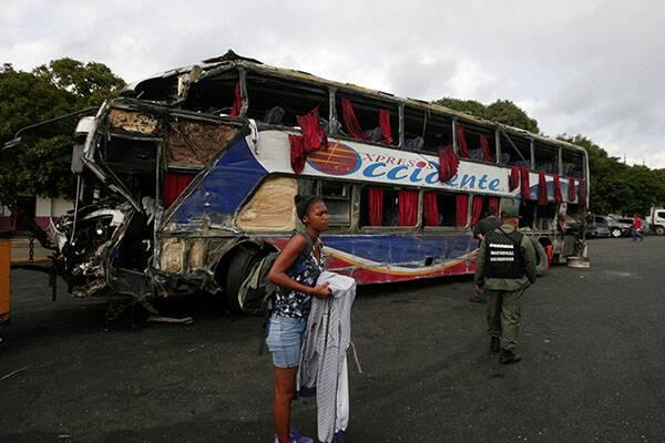 Volcamiento de autobús dejó 5 fallecidos / Foto: Credito @jchernandez69