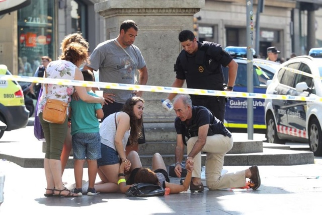 Atentado en Barcelona, España / Foto El País