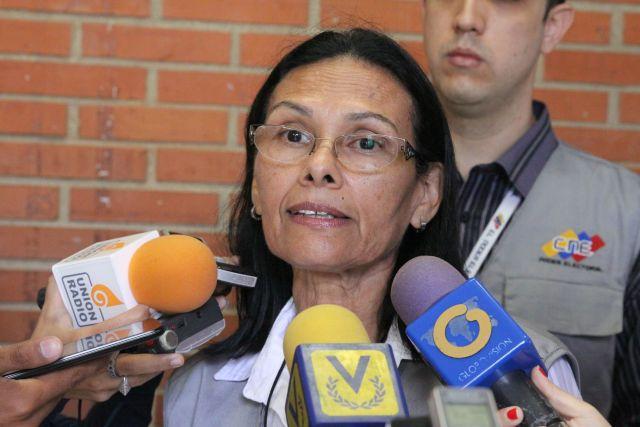 La rectora del Consejo Nacional Electoral (CNE), Socorro Hernandez. Foto: AVN