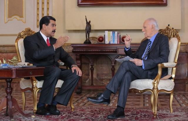 Nicolás Maduro es entrevistado por José Vicente Rangel // Foto AVN