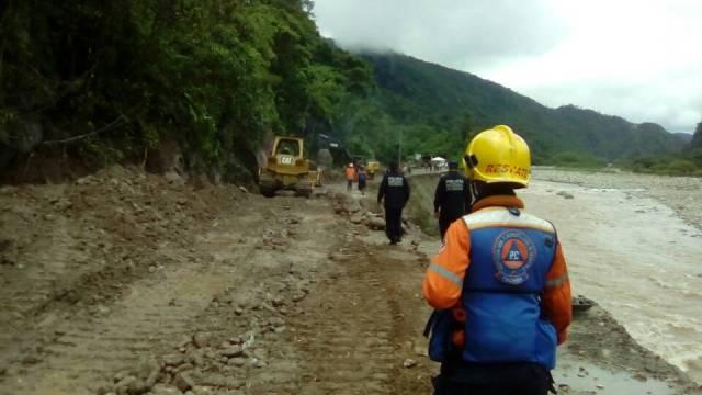 Reparación en sector Zig Zag en la Troncal 5 de Táchira // Foto @galindojorgemij