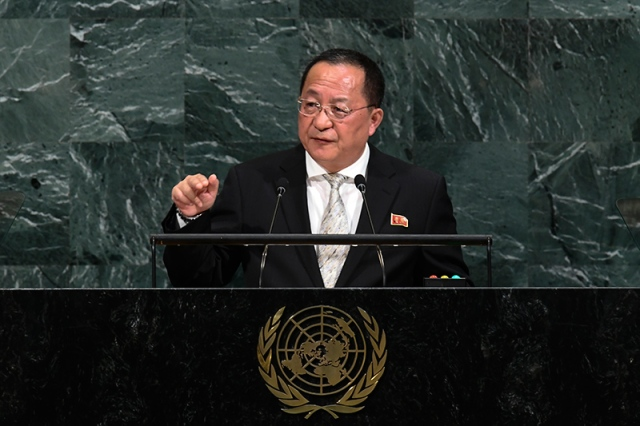El canciller norcoreano Ri Yong Ho (Foto: AFP)