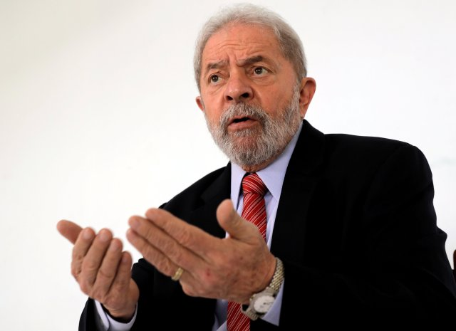FILE PHOTO: Former Brazil's President Luiz Inacio Lula da Silva gives an interview for Reuters in the northeastern city of Penedo in Alagoas, Brazil August 23, 2017. REUTERS/Paulo Whitaker/File Photo