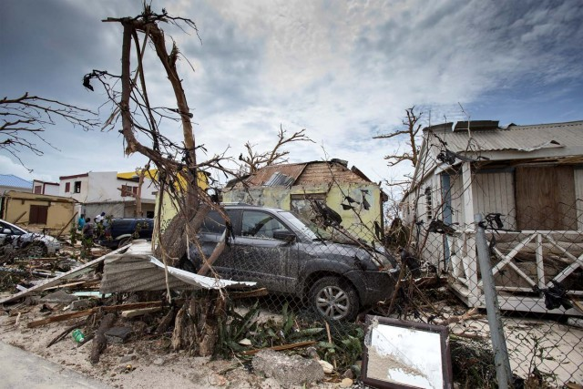 View of the aftermath of Hurricane Irma on Sint Maarten Dutch part of Saint Martin island in the Carribean September 7, 2017. Picture taken September 7, 2017. Netherlands Ministry of Defence- Gerben van Es/Handout via REUTERS ATTENTION EDITORS - THIS IMAGE HAS BEEN SUPPLIED BY A THIRD PARTY. MANDATORY CREDIT.NO RESALES. NO ARCHIVES