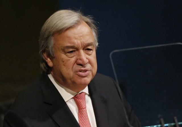 United Nations Secretary General Antonio Guterres addresses the 72nd United Nations General Assembly at U.N. headquarters in New York, U.S., September 19, 2017. REUTERS/Shannon Stapleton