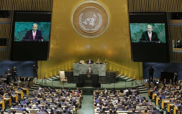 United Nations Secretary General Antonio Guterres addresses the 72nd United Nations General Assembly at U.N. headquarters in New York, U.S., September 19, 2017. REUTERS/Lucas Jackson