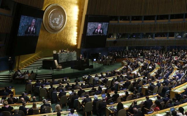 Unidas, Antonio Guterres, se dirige a la 72ª Asamblea General de las Naciones Unidas en la sede de los Estados Unidos en Nueva York, EE. UU., El 19 de septiembre de 2017. REUTERS / Shannon Stapleton
