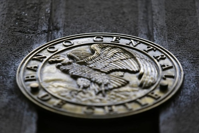 El emblema del Banco Central de Chile en su sede en Santiago, mar 24, 2017. REUTERS/Ivan Alvarado