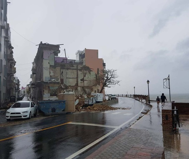 A damaged house is pictured after Hurricane Maria hit San Juan, Puerto Rico, September 20, 2017 in this image taken from a social media. Sebastian Perez via REUTERS THIS IMAGE HAS BEEN SUPPLIED BY A THIRD PARTY. MANDATORY CREDIT.NO RESALES. NO ARCHIVES