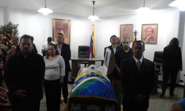 Rindieron últimos honores al concejal Naddord Zambrano (Foto: VP Los Salias)