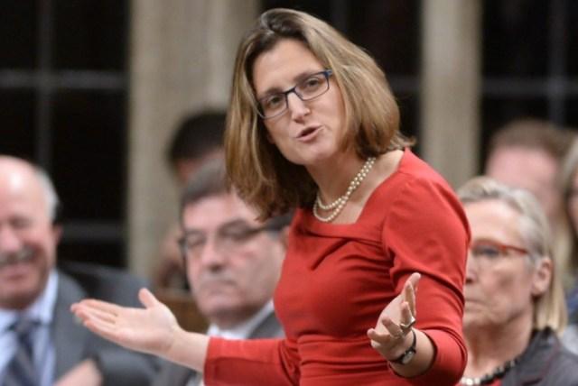 Ministra de Relaciones Exteriores, Chrystia Freeland