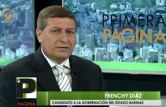 Frenchy Díaz, candidato a la gobernación del estado Barinas // Foto captura tv