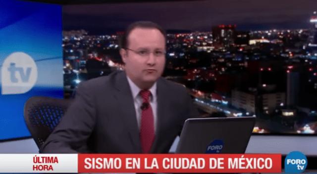 Foto: Presentador de Televisa abandonó el estudio durante terremoto en México / noticieros.televisa.com