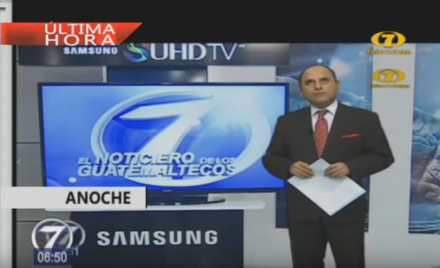 Foto: Televisión guatemalteca transmitió en vivo el sismo
